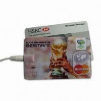 China Credit Card MP3 Player, Supports USB Mass Storage, Measures 85 x 54 x 4mm on sale