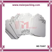 Wholesale 350gsm white coated paper hangtags, custom printing paper gift tag, party tags ME-TG007 from china suppliers