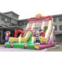 Wholesale Clown Commercial Inflatable Slide Inflatable Bounce Slide With Good Printing from china suppliers