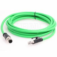 China M12 Dcoded 4 Pin Male Flexible Ethernet Cable to RJ45 Male With Industrial Cat5e Shielded on sale