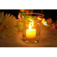 Wholesale 7Oz Mouth Blown Clear Decorating Glass Candle Holders , Astm from china suppliers