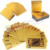 Wholesale Magic Cheating Durable Waterproof Plastic 24K Gold Foil Poker 2 Numbers from china suppliers