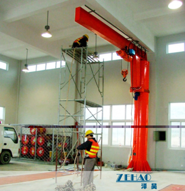 Wholesale ISO Approval Slewing Workstation Jib Boom Crane For Plant Building Maintenance from china suppliers
