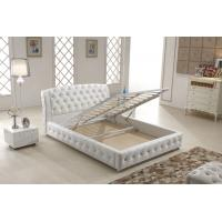 Wholesale Home Italian Leather Bed , Italian White Leather Bed With Storage Gas Lift from china suppliers