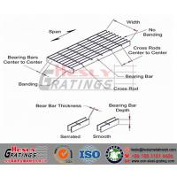 Quality HESLY Steel Bar Gratings Glossary/Welded Bar Grating for sale