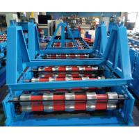 Wholesale Glazed Roof Panel Roll Forming Machine , Roof Tile Cold Forming Machine by Imported Panasonic PLC Control from china suppliers
