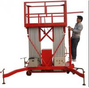 China Diesel control mobile aerial work platform,vertical man lift for sale on sale