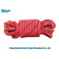 Wholesale High Strength Nylon / Polyester Safety Rope Outdoor Climbing Ropes 8mm Diameter from china suppliers