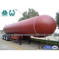 Wholesale Manual Tri Axle 56CBM Aluminium Alloy LPG Tank Trailer Big Capacity from china suppliers