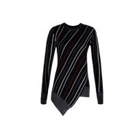 Wholesale Diagonal Stripes Women's Cotton Pullover Sweaters Contrast Color Customized Size from china suppliers