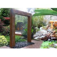 Buy cheap Corten Steel Rain Curtain Water Feature Water Curtain Fountain Different Sizes from wholesalers