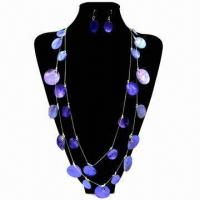 Wholesale Fashionable Shell Necklace Sets, Customized Packing Types are Accepted from china suppliers
