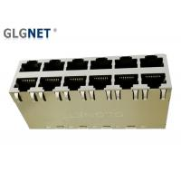 Wholesale Magnetic RJ45 Connector  2 X 6 Stacked RJ45  -40 °C to 85 °C  Operating Temp POE+ from china suppliers