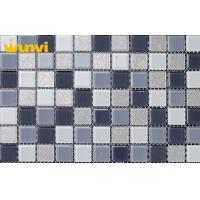 Wholesale Small Black And White Iridescent Glass Mosaic Tile , Glass Mosaic Floor Tile from china suppliers