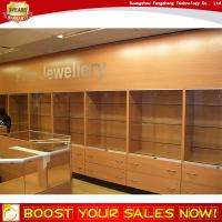 Wholesale High fashion MDF wooden antique jewelry cabinet for branded jewelry shop design decoration from china suppliers