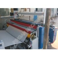 China Semi automatic tissue paper rolls rewinding machine efficient with embassing Function on sale