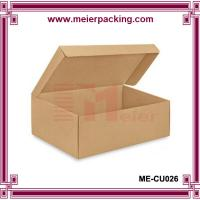 Wholesale One-Piece Corrugated Shoe Boxes/Kraft Brown Paper Storage Box ME-CU026 from china suppliers