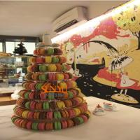Quality Macaron Food Display Trays More Layers Transparent , Plastic Dispaly Stand for sale