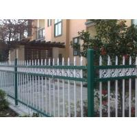 Wholesale Euro Style Tubular Zinc Steel Fence Powder Coated For School , Convenient Install from china suppliers