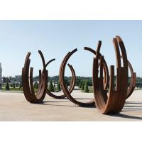 Wholesale Dancing Ribbons Appearance Corten Steel Sculpture For Outdoor Decoration  from china suppliers