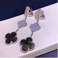 Wholesale Van Cleef & Arpels 18K Gold Diamond Earrings / Magic Alhambra Earrings With Gemstone from china suppliers