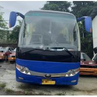 China 15000KG Dark Blue Used Yutong Buses 45 Seat 2014 Year Diesel LHD With A/C for sale