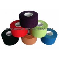 Wholesale Colored Sports Tape 100% cotton with good adhesive hot melt glue, no residue from china suppliers