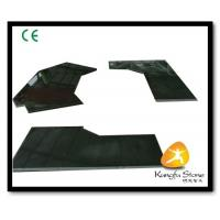 China Xiamen Kungfu Stone Ltd supply Absolute Black Stone Countertops In High quality and cheap price on sale