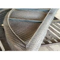 Quality Mist Eliminator Mesh / Knitted Wire Mesh Rectangular Demister Pad Less Pressure Drop for sale