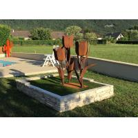 Buy cheap Lifelike Corten Steel Tulip Abstract Flower Sculpture For Garden Decoration from wholesalers