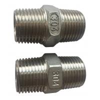 "Wholesale 4"" Stainless Steel Pipe Fitting , Hexagon Nippl BSPT  NPT JIS Thread from china suppliers"