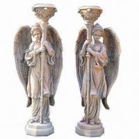China Angle statues with candle holders on sale