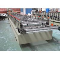 China Color Glazed Tile Making Machine , Steel Tile Roll Forming Machine With Press Mould on sale