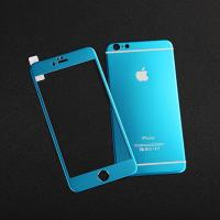 Wholesale For iPhone6 4.7'' 0.33mm 9H Colorful 3D Titanium alloy tempered glass from china suppliers