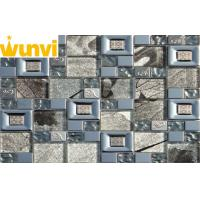 Wholesale Large Square Glass And Stainless Steel Mosaic Tile For Kitchen Backsplash from china suppliers