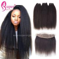 China Pure 100 Virgin Curly Hair Weave Burmese Wavy Hair No Mix Natural Black on sale