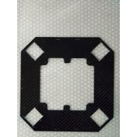 Buy cheap CNC cut carbon fiber plate board sheet  with 3K twill /3K plain surface thickness 1mm 2mm 3mm from wholesalers