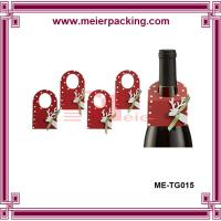 Wholesale printed red wine bottle neck hang tag for promotion and display ME-TG015 from china suppliers