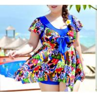 Wholesale Large size dress-piece swimsuit hot spring steel prop swimsuit large cup from china suppliers