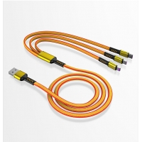 Wholesale 3 in 1 5A Fast Charging Data Cable Nylon braided Usb data Cable For mobile phone from china suppliers