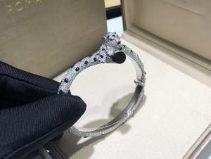 Wholesale 15.74 Carats 706 Diamonds Panthere De Cartier Bracelet 18k White Gold from china suppliers
