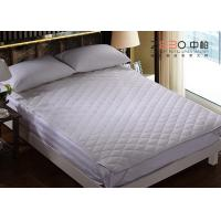 Buy cheap Machine Washable Hotel Mattress Protector White Color 100% Cotton Material from wholesalers