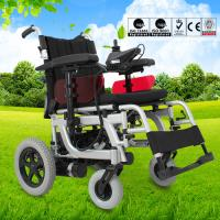 Quality Spray Steel Material Small Electric Wheelchair For Indoors Folding Function for sale