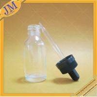 China wholesale 1oz 30ml clear Boston round glass bottle with childproof dropper cap on sale