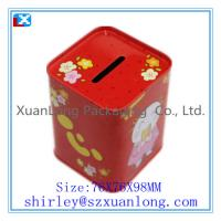 Quality Square Tin Coin Box for sale