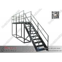 Wholesale Ladder platform bar stair galvanized industrial steel stair from china suppliers