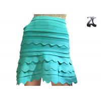 Wholesale Anti Pilling Ladies Knit Skirts Green Color Office Suit for Spring S XXL Customized from china suppliers
