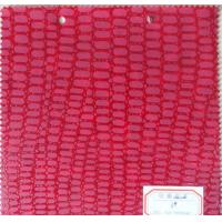 Wholesale Abrasion Resistance Thickness 0.9mm / 1.1mm Artificial Leather Fabric Pink Color from china suppliers