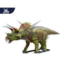 China Robotic Waterproof Outdoor Dinosaur Statue In Park Equipment / Realistic Garden Animals for sale