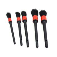 China Convenient Car Detailing Brushes , Flexible Car Seat Cleaning Brush 5 PCS on sale